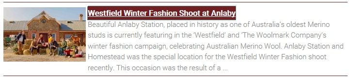 News Item - Westfield Winter Fashion Shoot at Anlaby
