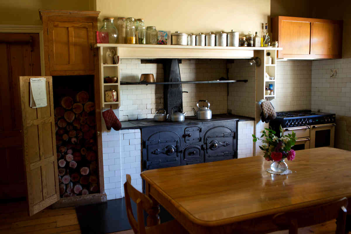 Anlaby Kitchen with magnificent wood stove