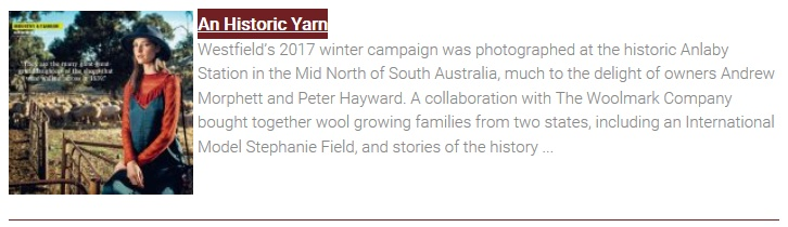 News Item - An Historic Yarn
