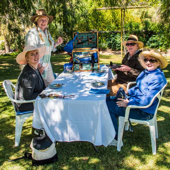 Anlaby Open Garden 2017 - Picnicing in style