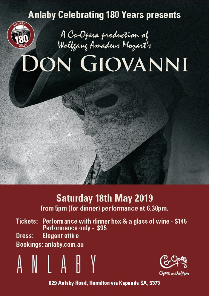Anlaby presents Don Giovanni - a Co-Opera Production Sat 18th May 2019 - Flier