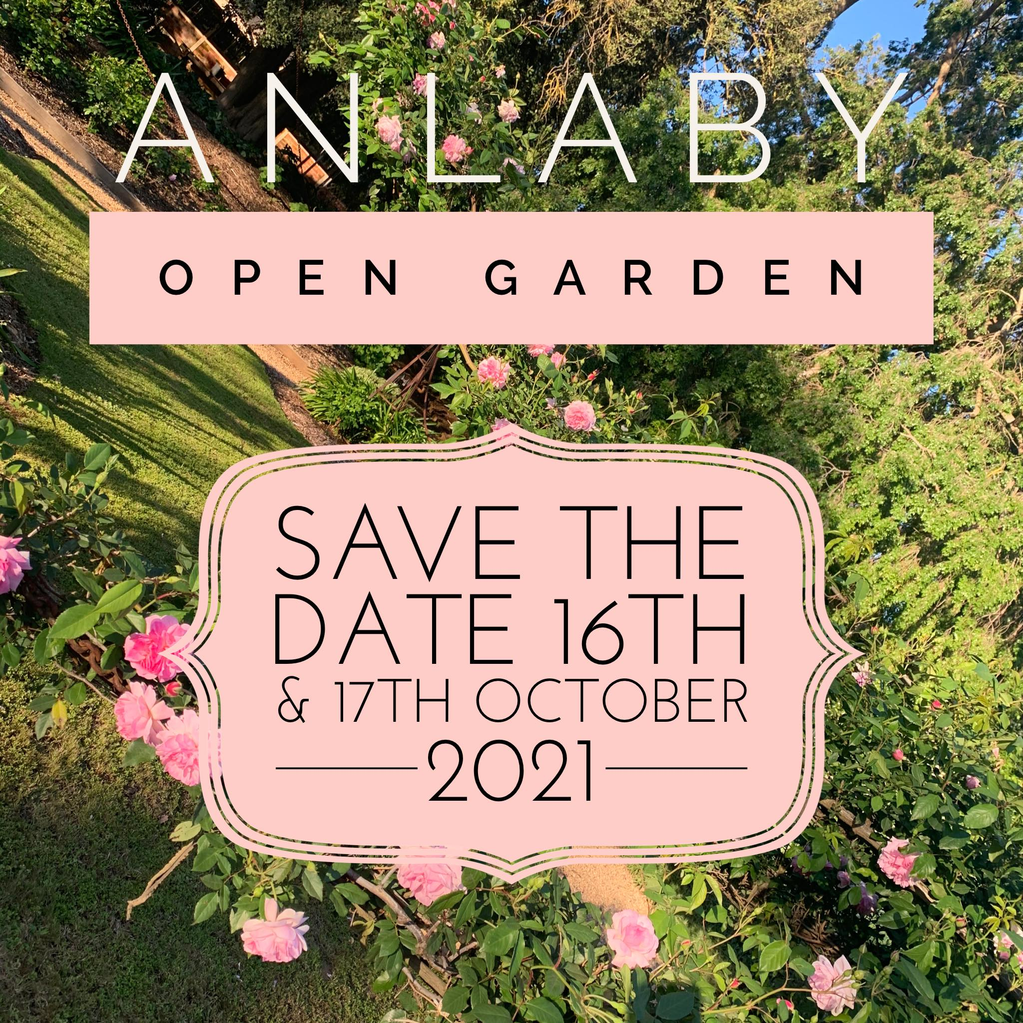 Anlaby - Save the Date for our Open Gardens 2021